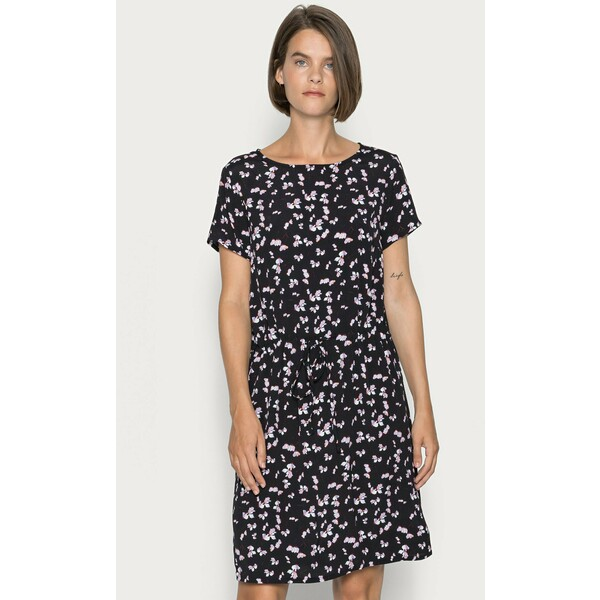 Anna Field WOVEN DRESS BASIC TUNNEL Sukienka letnia black/lilac AN621C1NV