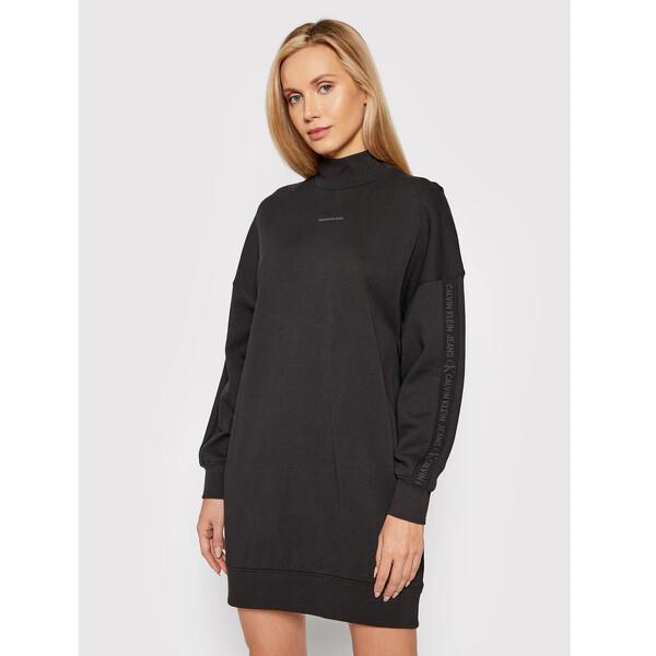 Calvin Klein Jeans Sukienka dzianinowa J20J217571 Czarny Oversize