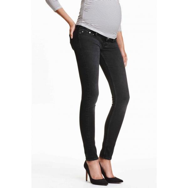 8e1beb4be05d52 H&M MAMA Shaping Skinny Jeans 0294076015 Czarny - UbierzmySie.pl