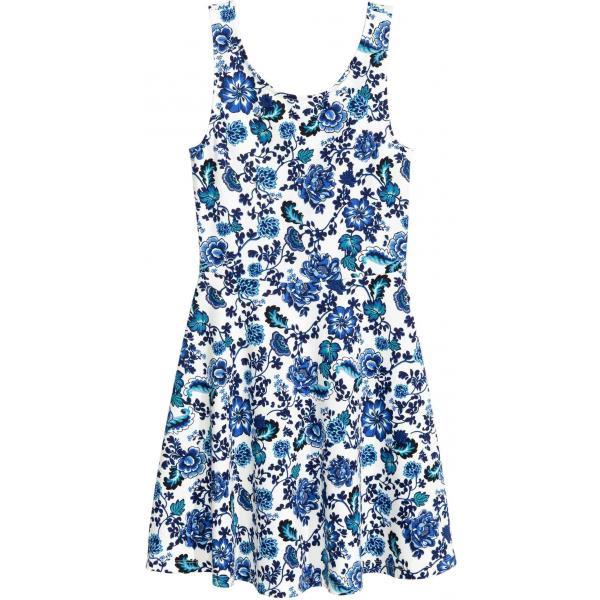 85b72e1eeb H M Sukienka bez rękawów 0303251043 Biały Niebieskie kwiaty ...