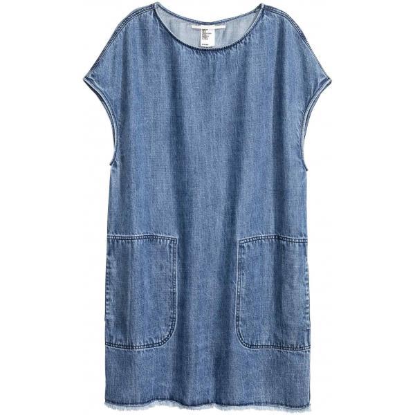 b0d73d24ba H M Dżinsowa sukienka z lyocellu 0399048002 Niebieski denim ...