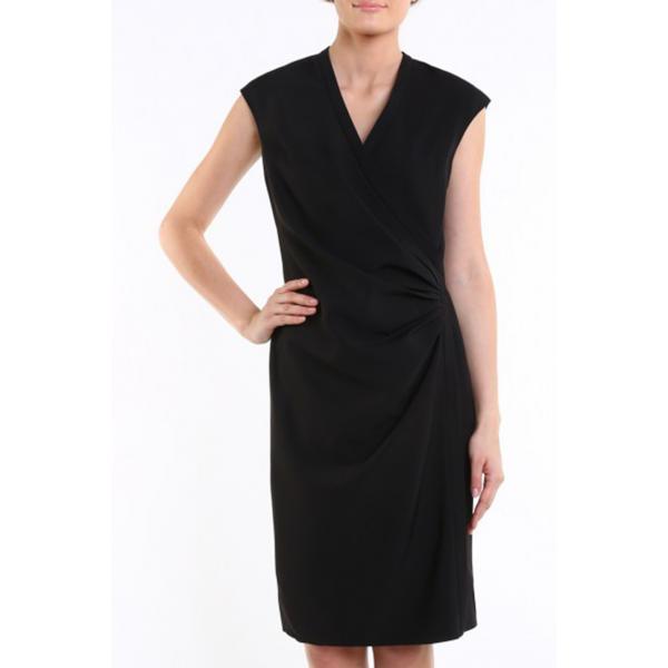 96f40c03b0 Tiffi Sukienka z kopertowym dekoltem czarna - UbierzmySie.pl