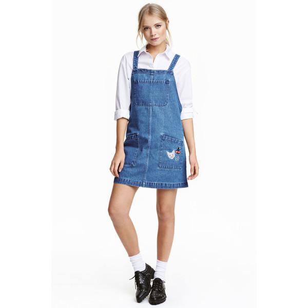 c60843dbf1 H M Sukienka dżinsowa na szelkach 0441261001 Niebieski denim ...