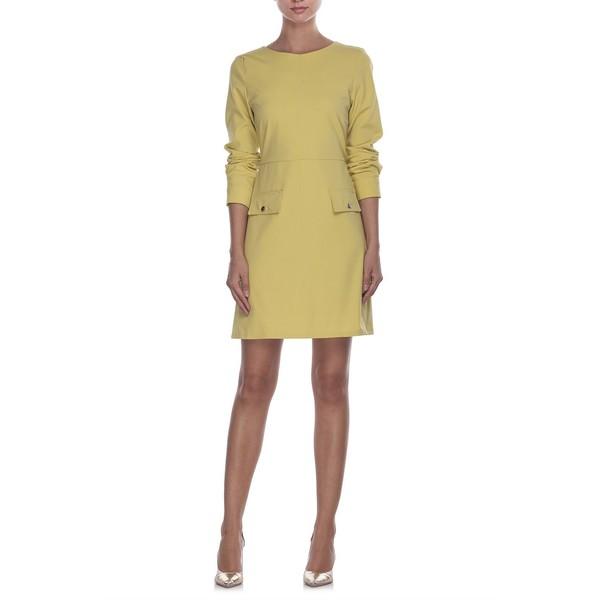JAP Sukienka z patkami limonkowa