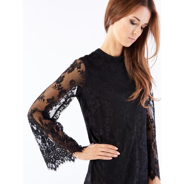 895fc0fcfe2f59 Mohito Koronkowa sukienka z rozszerzanym rękawem PU988-99X - UbierzmySie.pl