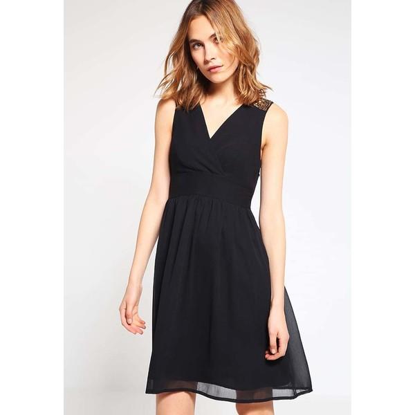 4d6c0ba357 Vero Moda VMALMA PRINCESS Sukienka koktajlowa black gold VE121C0ZK ...