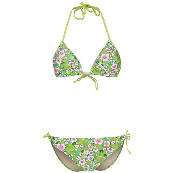 Strand EMMA Bikini green flowers SD821L002