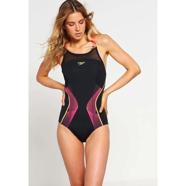 Speedo Kostium kąpielowy black/pyscho red/global gold 1SP41H01W