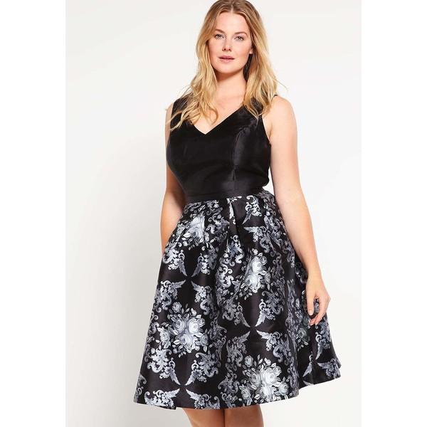 2586070fea80 Chi Chi London Curvy ATALLA Sukienka koktajlowa black CV721C00P ...