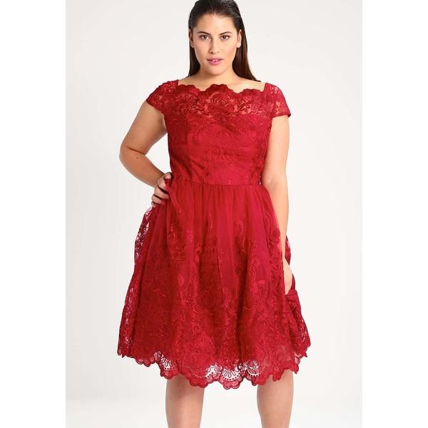 6a22311b8ef3 Chi Chi London Curvy DIONE Sukienka koktajlowa red CV721C00T ...