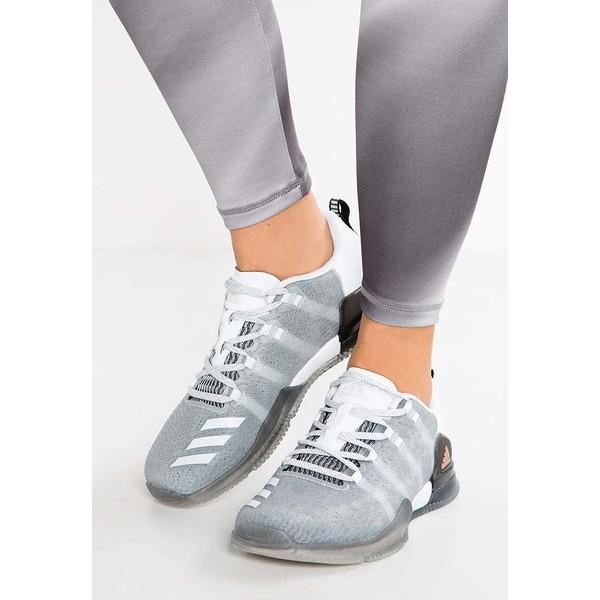 92b54ade379723 adidas Performance CRAZYPOWER TR Obuwie treningowe white/vapour grey  metallic/clear grey AD541A100