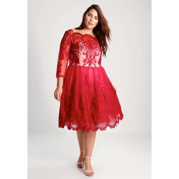 a2c56545c149 Chi Chi London Curvy AVIANA Sukienka koktajlowa red CV721C00S ...