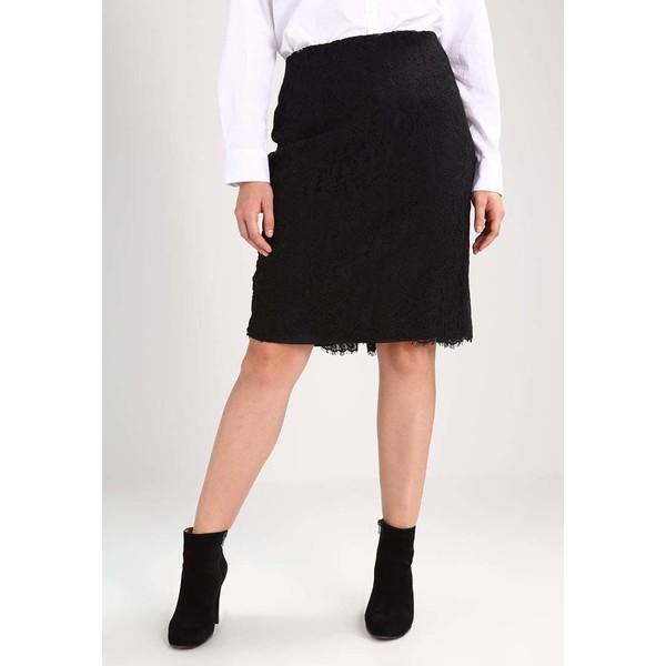 Lauren Ralph Lauren CRINKLE SKIRT - Spódnica trapezowa - black/multi