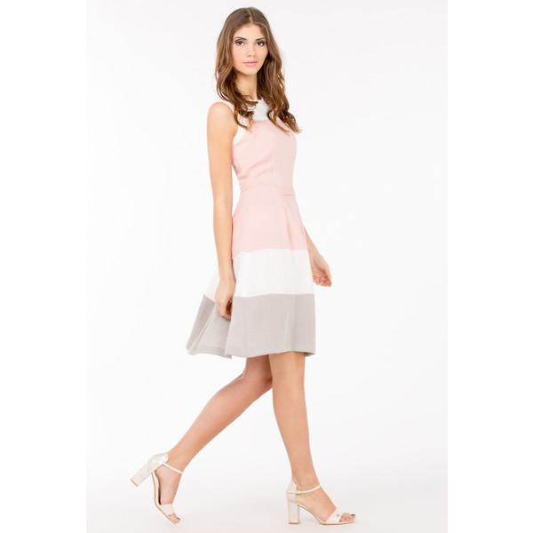 bc82eb8c24 Monnari Trójbarwna sukienka na lato SUKPOL0-17W-DRE2170-KM04D900-R36 ...