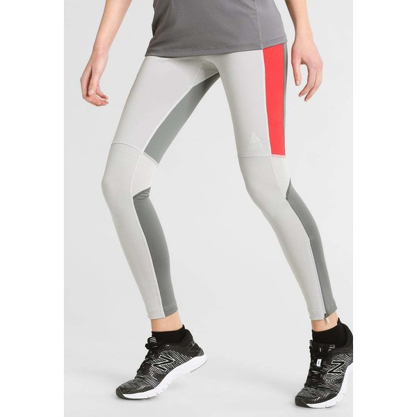 ODLO HIKE Legginsy platinum grey/bittersweet/steel grey OD141E01B