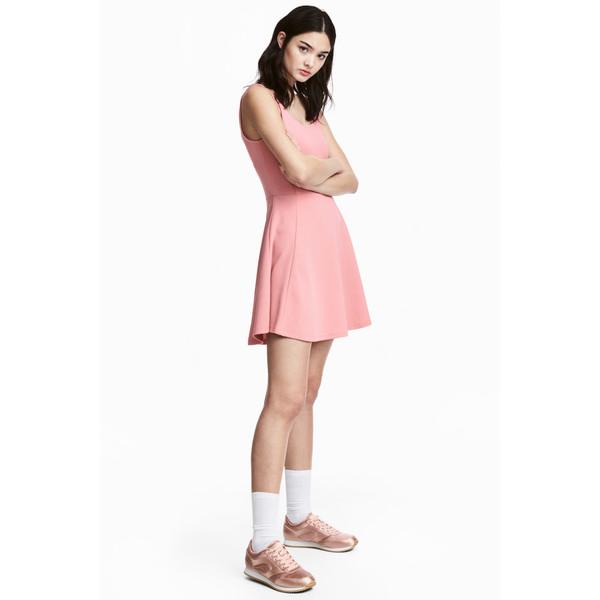 208af5aa0a H M Dżersejowa sukienka 0467302034 Różowy - UbierzmySie.pl