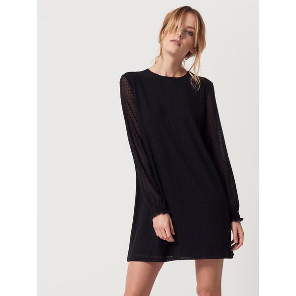 42246aa5 Mohito Sukienka z tiulem w grochy QV703-99X - UbierzmySie.pl