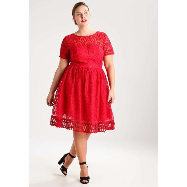 90bd5ae73150 Chi Chi London Curvy NURIA Sukienka koktajlowa red CV721C012 ...