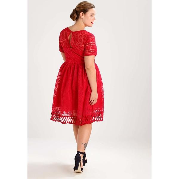 ede8f9b6d3d6 Chi Chi London Curvy NURIA Sukienka koktajlowa red CV721C012. (C) zalando.pl.  (C) zalando.pl