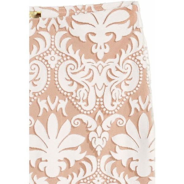 H&M Spódnica z siateczki we wzory 0502195001 Naturalna biel