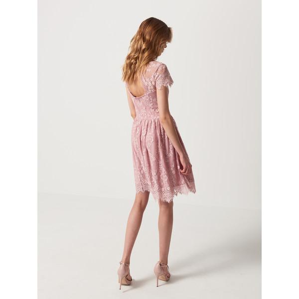 ab6839c1ff Mohito Koronkowa sukienka z wycięciem na plecach QH406-03X ...