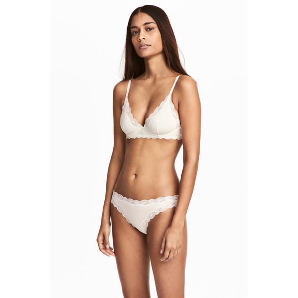H&M Figi bikini 2-pak 0474095002 Biały