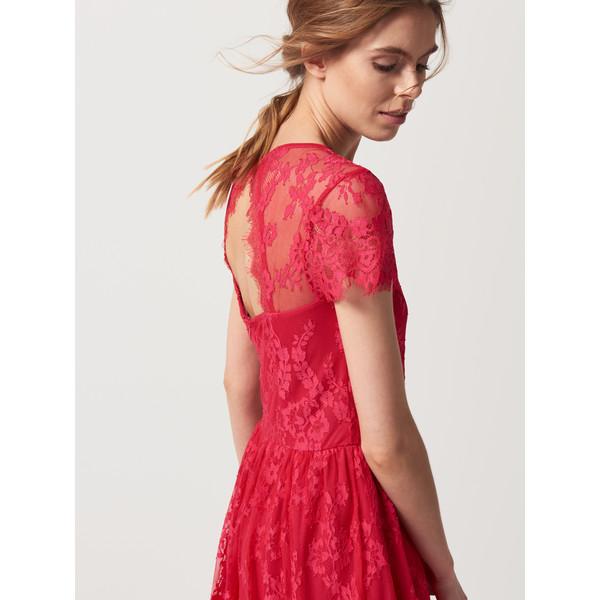 6400b09370 Mohito Koronkowa sukienka z wycięciem na plecach QH406-42X ...
