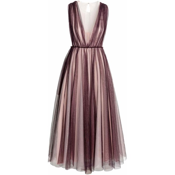1dd3a0bf52 H M Tiulowa sukienka 0486653001 Śliwkowy Pudrowy - UbierzmySie.pl