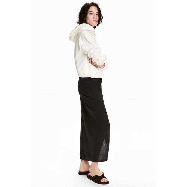 H&M Spódnica z dżerseju w prążki 0520513001 Czarny