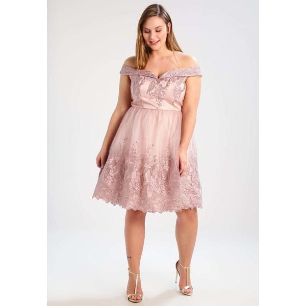 c040c621c67a Chi Chi London Curvy RUBEN Sukienka koktajlowa purple CV721C01E ...