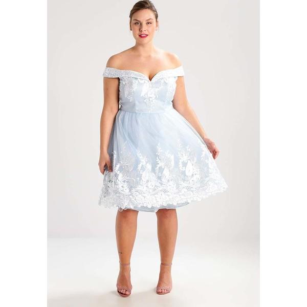 2def9a5975d4 Chi Chi London Curvy XANDRA Sukienka koktajlowa pale blue CV721C01C ...