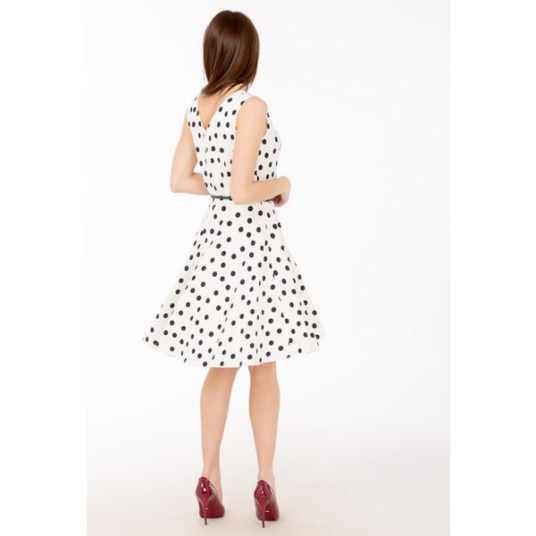 8dd51e997c Monnari Koktajlowa sukienka w groszki SUKPOL0-17L-DRE3650-KM00D300-R36 -  UbierzmySie.pl