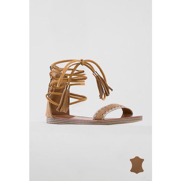 2f074c95a94e06 Monnari Skórzane sandały z wiązanymi sznurkami  BUTIMP0-17L-BUT0110-K017D601-R36 - UbierzmySie.pl