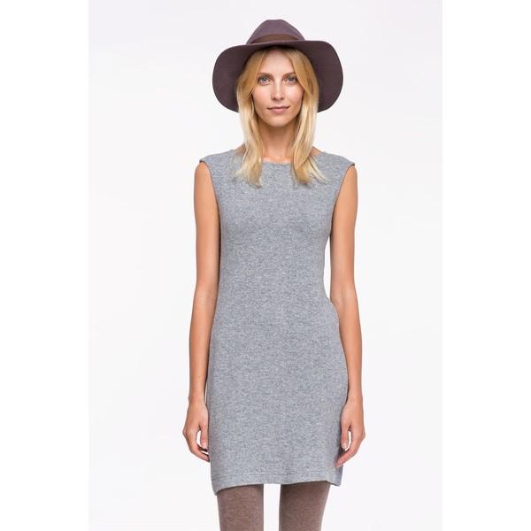 61f904fb5c Tatuum SELFI szara sukienka z dzianiny - MojeSukienki.pl
