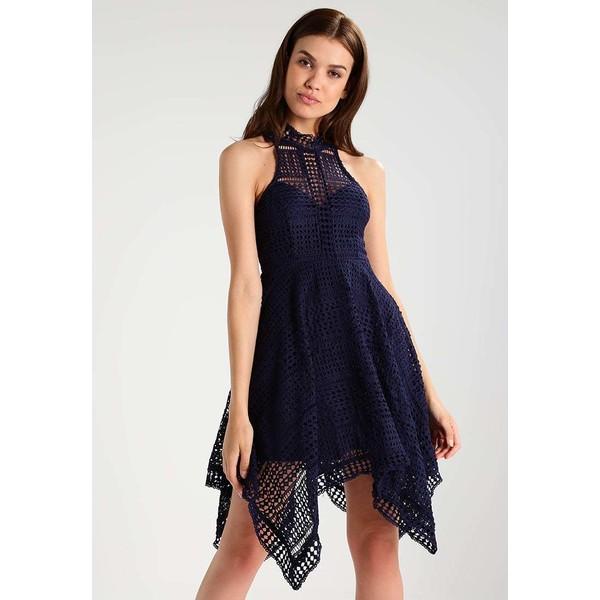 Love Triangle AMELIE ASYMMETRIC Sukienka koktajlowa navy LOE21C006