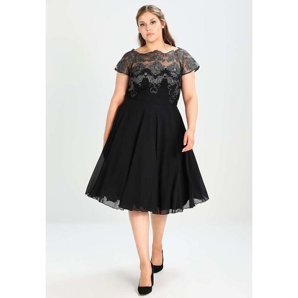4c2ad7c8c67a Chi Chi London Curvy TINA Sukienka koktajlowa black gunmetal CV721C03K