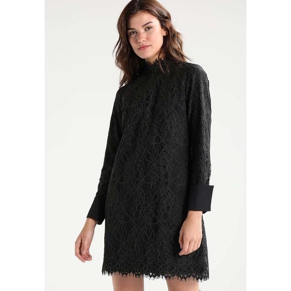686ad4b2a5 Scotch   Soda HIGH NECKLINE AND CONTRAST CUFFS Sukienka letnia black  SC321C00B