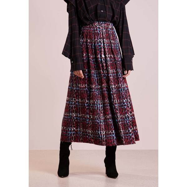 bf60685f The Editor LEOPARD SKIRT Spódnica trapezowa red THH21B000 ...