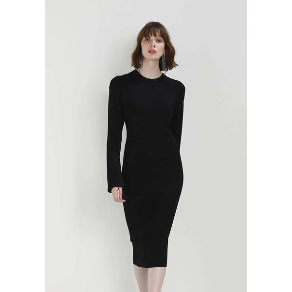 200b7c2fb034 Topshop LONDON FASHION WEEK POINTELLE LONG SLEEVE MIDI DRESS Sukienka etui  black TP721C0T9