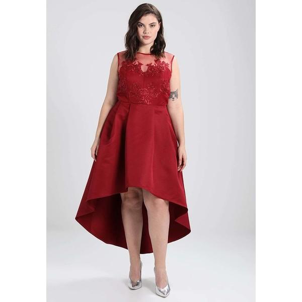 92f01dc5ae Chi Chi London Curvy LARAYA Suknia balowa red CV721C03M - UbierzmySie.pl