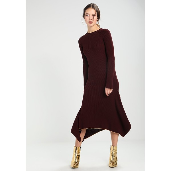 65e67abe4a Topshop DRESS Długa sukienka burgundy TP721C0VE - MojeSukienki.pl