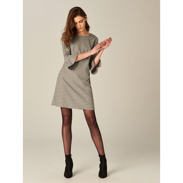 28487a3c7c Mohito Sukienka w groszki z rozkloszowanym rękawem TB217-90X ...