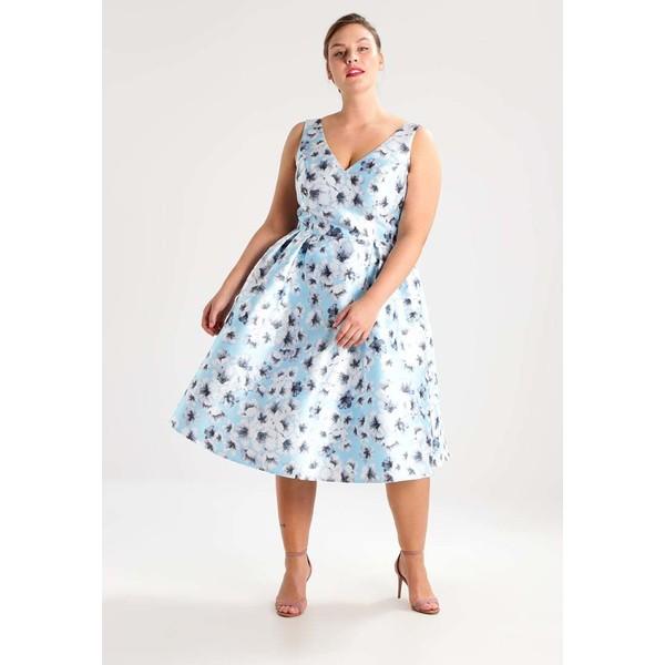 6e8dee17f998 Chi Chi London Curvy MASCHA Sukienka koktajlowa blue CV721C02N. (C) zalando.pl.  (C) zalando.pl