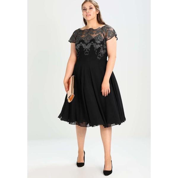 a8be44dde880 Chi Chi London Curvy TINA Sukienka koktajlowa black gunmetal CV721C03K. (C)  zalando.pl. (C) zalando.pl
