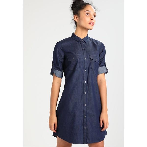 6b6339f01c Zalando Essentials Sukienka jeansowa dark blue denim ZA821C071 ...