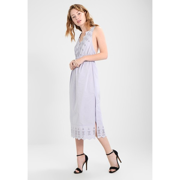 f112870d12 Topshop BRODERIE MIDI SUN Długa sukienka pale blue TP721C0WH ...