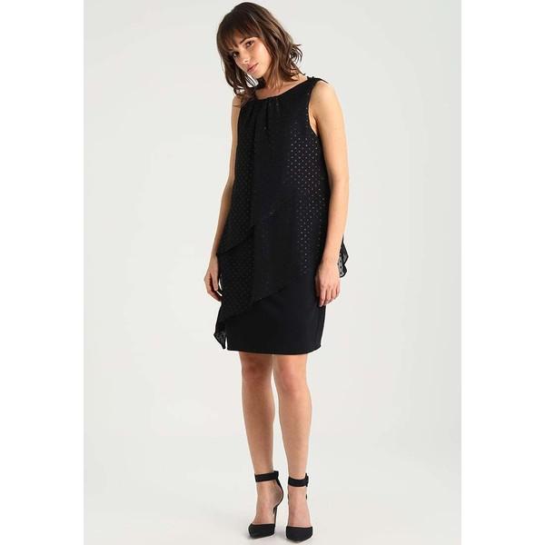 c00191c670 Wallis Petite METALLIC DOBBY TIERED DRESS Sukienka koktajlowa black  WP021C030 - UbierzmySie.pl