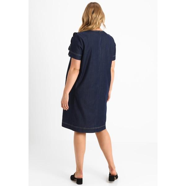 Persona by Marina Rinaldi RUFFLE DRESS Sukienka jeansowa denim blue ... 026b915cd39