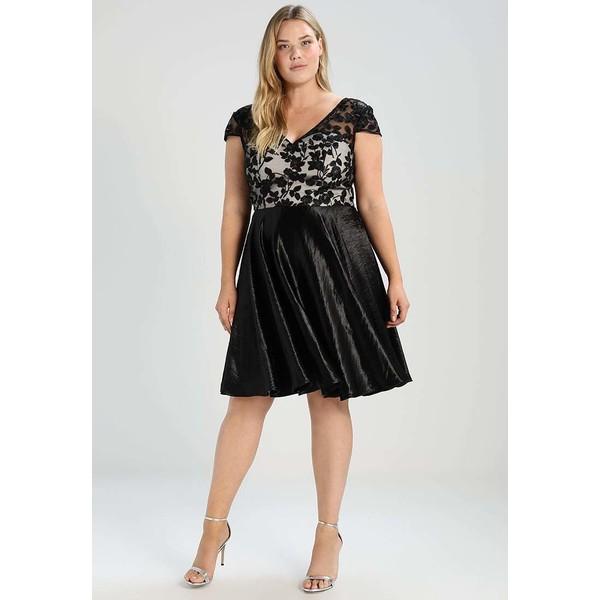 584ab8caff4c Chi Chi London Curvy SUZETTE Sukienka koktajlowa black nude CV721C03I. (C)  zalando.pl. (C) zalando.pl