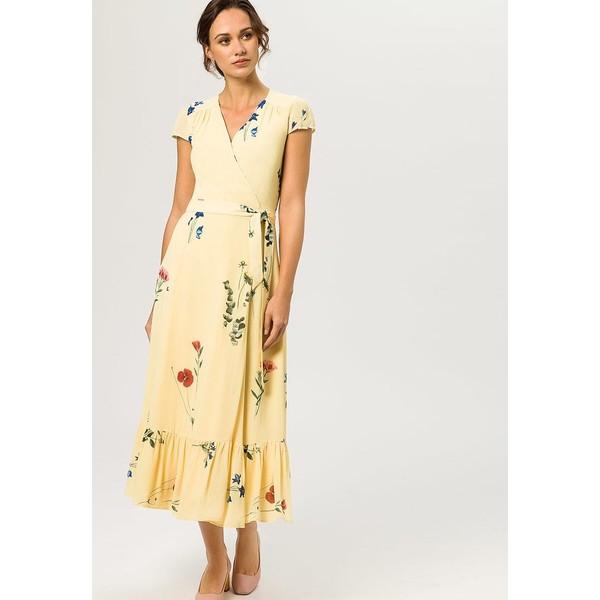 712e007997 IVY   OAK WRAP DRESS CAP SLEEVE VOLANT Długa sukienka lemon sorbet  IV321C028. (C) zalando.pl. (C) zalando.pl